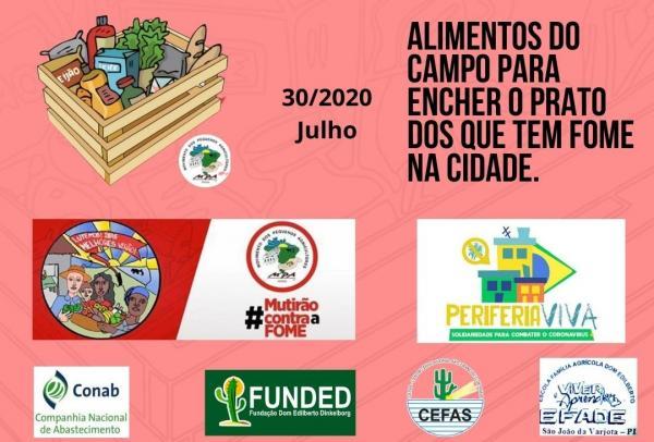 Em Parceria com o CEFAS e FUNDED, o Movimento dos Pequenos Agricultores – MPA Fará Mutirão de Distribuição de Alimentos Para Famílias em Situação de Vulnerabilidade nas periferias de Oeiras PI.