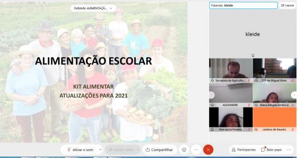 O CEFAS Participa de Reunião Online Sobre o PNAE!